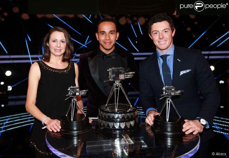 Lewis Hamilton, Jo PAvey et Rory McIlroy lors des Sports Personality of the Year Awards au SSE Hydro de Glasgow, le 14 décembre 2014
