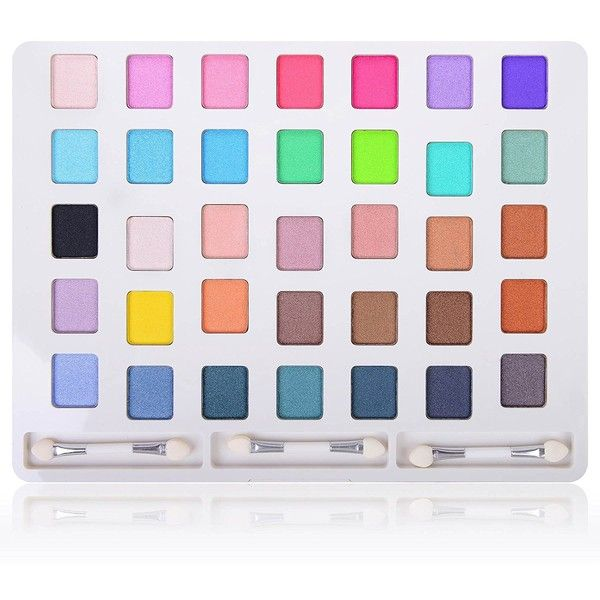 SHANY iLookBook Ultra Compact HD Makeup Set 35 Colors Eye Shadow... ($15) ❤ liked on Polyvore featuring beauty products, makeup, eye makeup, eyeshadow, shany eyeshadow, shany and palette eyeshadow