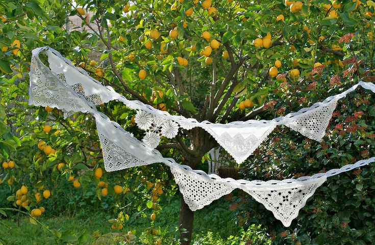 Wedding Banner, Wedding Bunting Doily, Boho Wedding Decor, Shabby Chic Wedding Garland Backdrop, Bridal Shower Decor, Party Bunting Banner