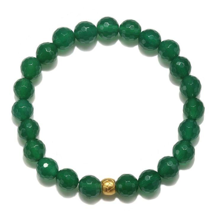 Lotus Green Onyx Stretch Bracelet
