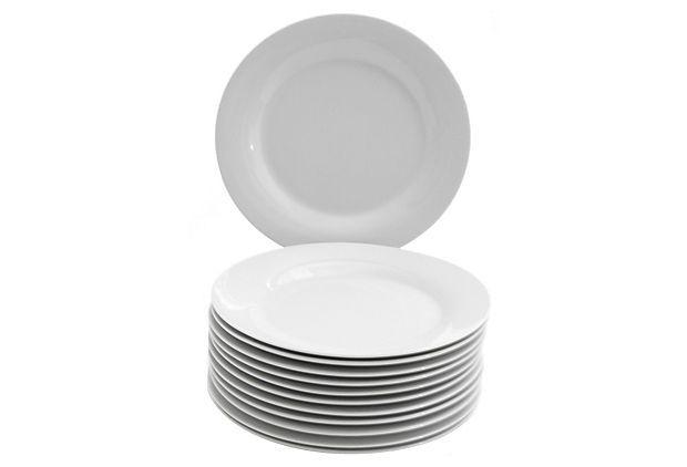 S/12 Round Dessert Plates, White on OneKingsLane.com