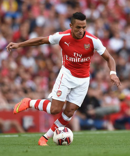 Alexis Sanchez of Arsenal FC in the Emirates Cup