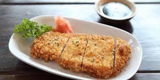 Dada ayam tanpa Lemak dan dilapisi dengan tepung roti yang renyah..