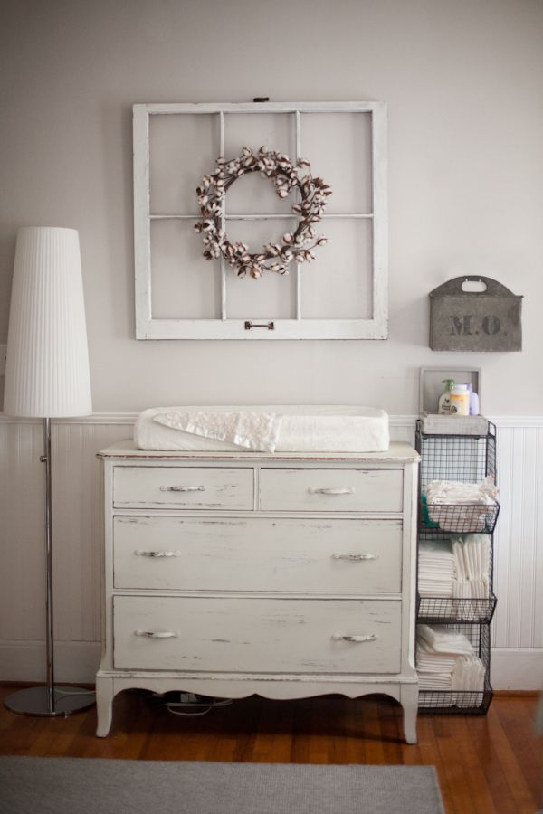 I really want to find an old dresser like this and refurnish it for a nursery. YES! This is what I wanted to show Don!