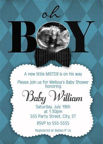 Black Bow Tie Bowtie Baby Shower Invitations Www.poshnchicprints.com