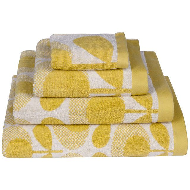 BuyOrla Kiely Speckled Flower Bath Towel, Lemon Online at johnlewis.com
