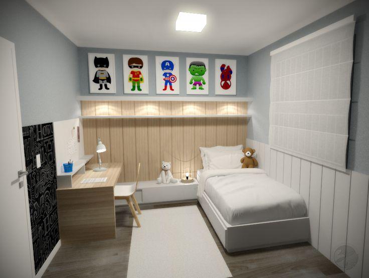 Projeto escritório Atelier da Reforma - Apartamento Moema - Quarto de menino