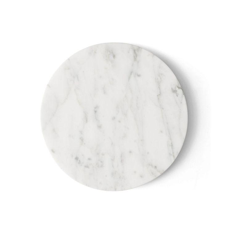 Tablette Marbre Blanc Wire Diam 23 Cm Pour Support Wire Menu – Taille : Taille Unique