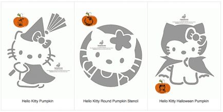 17 best images about pumpkin ideas on pinterest for Hello kitty pumpkin carving patterns