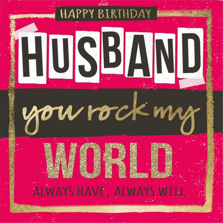 Happy Birthday Husband Card - Google Search