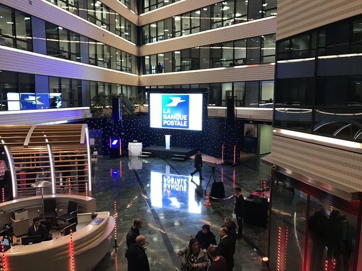 Ecran led video pitch 3mm pour evenement La Banque Postale