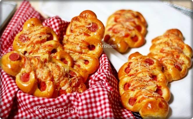 Roti Sosis Caterpillar Tang Zhong/Water Roux methode-