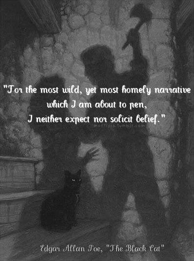 the black cat by edar allan poe essay Story, the black cat this paper will interpret a short story, the black cat, by edgar allan poe my purpose is to show the effect of the use of irony on the progress of the short story.