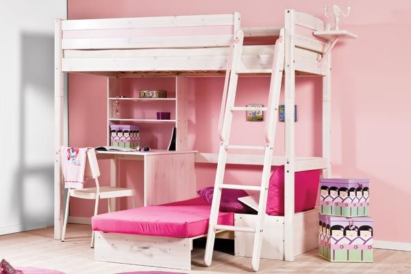 bunk beds with desk underneath google search room ideas pinterest girls high sleeper. Black Bedroom Furniture Sets. Home Design Ideas