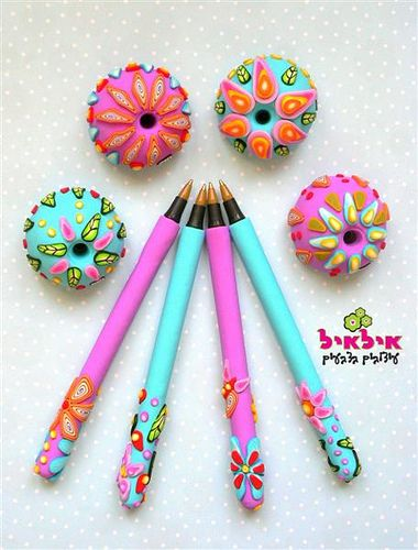 Polymer clay pens   Flickr - Photo Sharing!