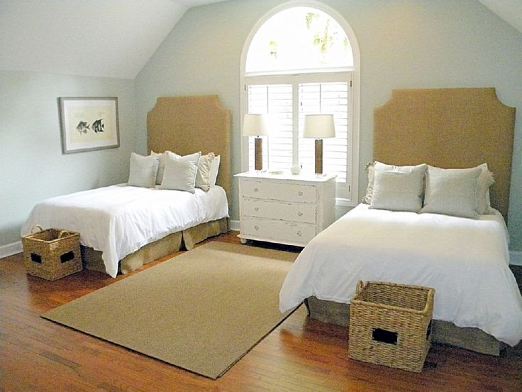 Second floor bedroom with two full beds