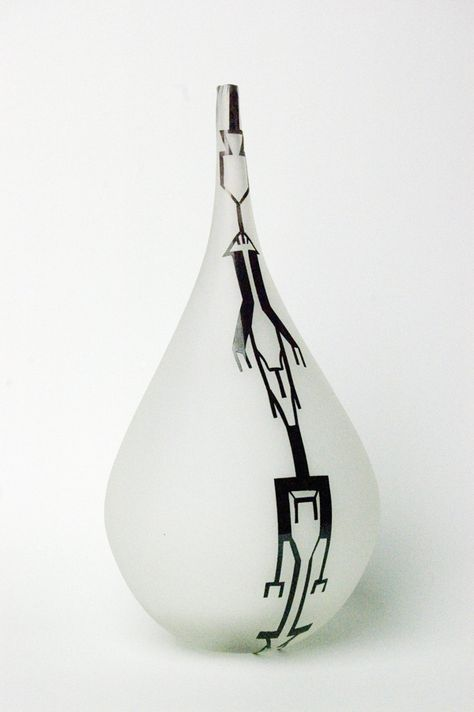 Pattern and form, hand blown glass by Matt Kolbrener