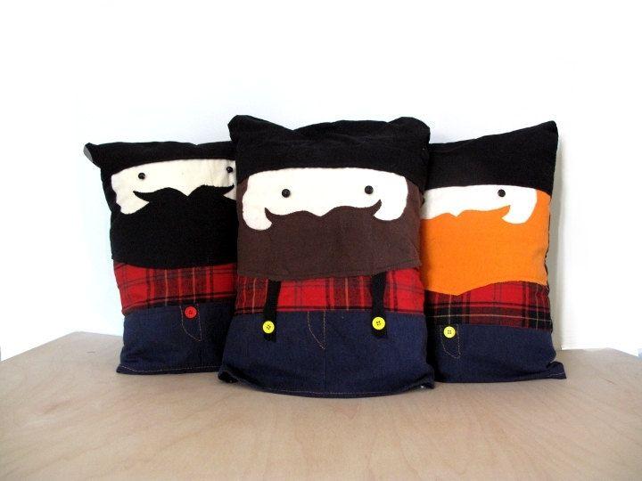 Slumber Jack Jr- The Lumber Jack plush- boyfriend-- pillow toy-Pet Bed. $24.00, via Etsy.