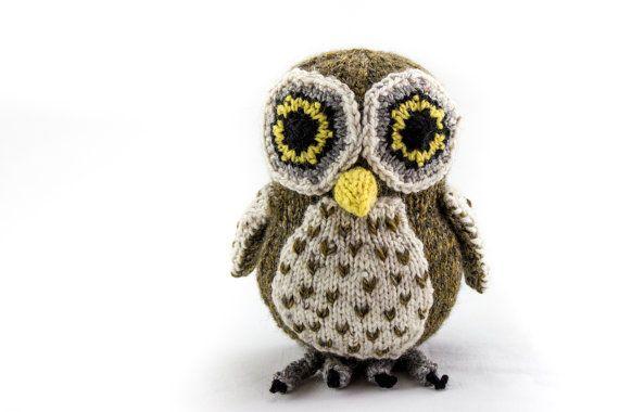 KNITTING PATTERN, PDF, Soft Toy Knitting Pattern, Australian Boobook Owl, Wildlife Toy, Soft Toy, Knitted Softie Pattern
