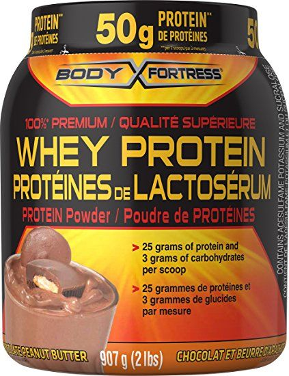 Amazon - Body Fortress Whey Protein Powder Peanut Butter Chocolate 2lbs. $14 http://www.lavahotdeals.com/ca/cheap/amazon-body-fortress-whey-protein-powder-peanut-butter/123310