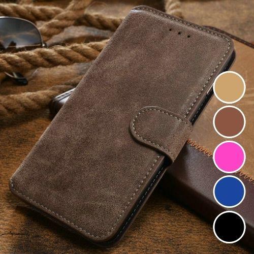 4,90€ inclusive Versand - Elegante-Luxus-Wildleder-Stil-Handytasche-Handyhülle - Flip-Case-Handy-Tasche-Hülle-iPhone, Samsung, Motorolla