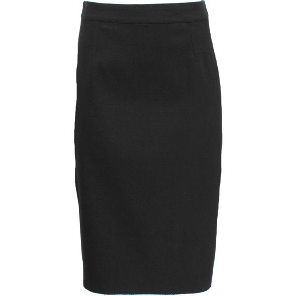 Lanvin Techno Pique Stretch Pencil Skirt ($960) ❤ liked on Polyvore featuring skirts, stretchy pencil skirt, lanvin, knee length pencil skirt, stretch pencil skirt and pencil skirts