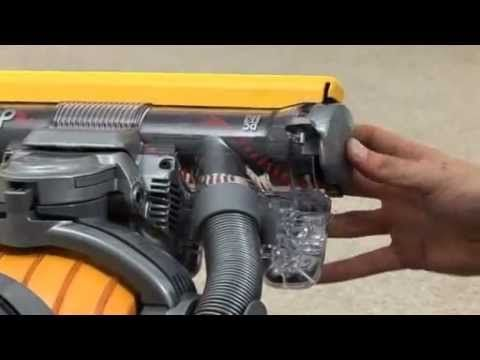 how to clear and reset the brush bar of your dyson dc15 upright vacuum cleaner