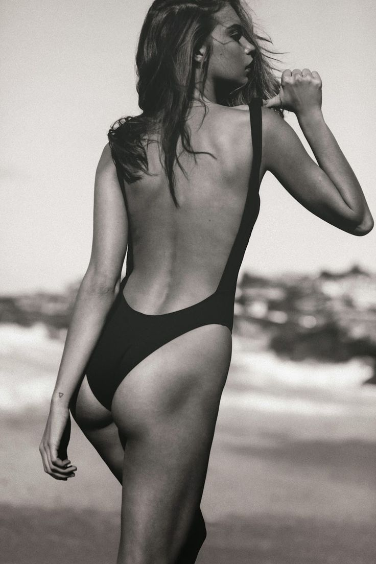 Get the look - sexy black one-piece