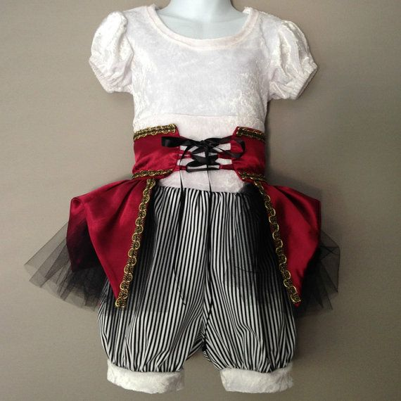 Pirate Costume for Girls Pirate Birthday by TopHatCostumeCompany