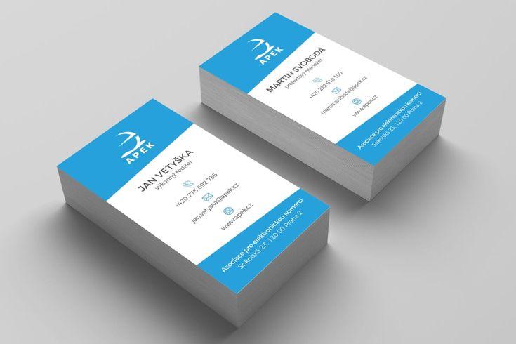 Návrh vizitek pro APEK (Asociace pro elektronickou komerci) #apek #businesscards #businesscardsdesign