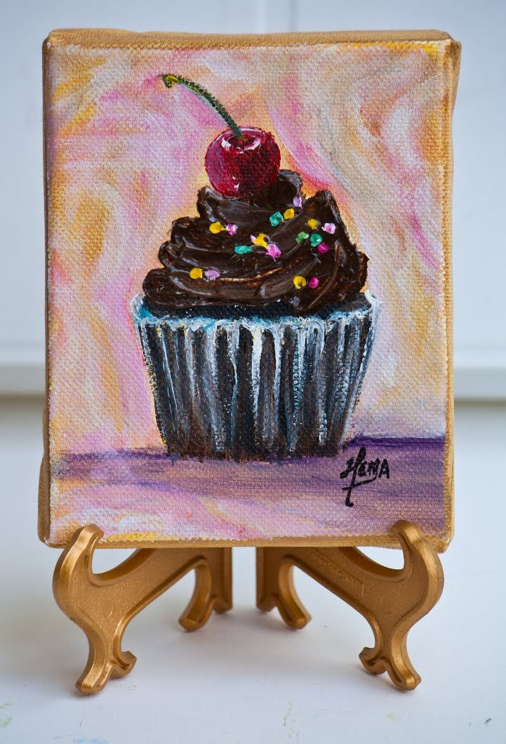 painting of cupcakes - Google Search
