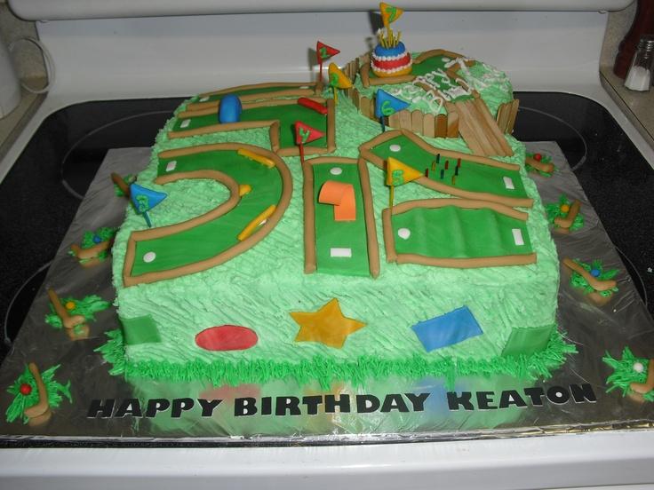 Mini Golf Cake  Ryans cake ideas  Pinterest