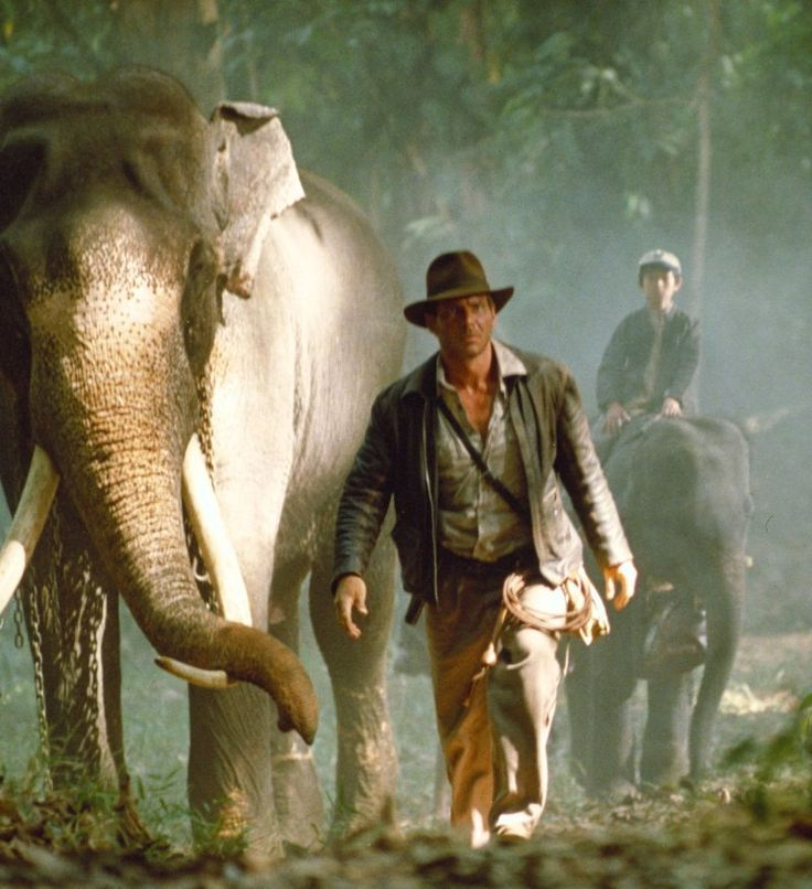"Still of Harrison Ford and D.R. Nanayakkara in ""Indiana Jones and the Temple of Doom"" (1984)"