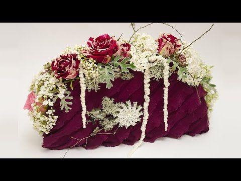 Флористика своими руками урок Сумка из живыз цветов Video tutorial floristry Bag of fresh flowers - YouTube