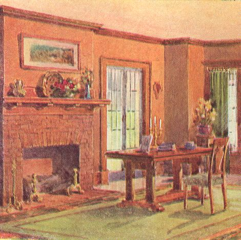 This 1911 Dining Room Has Been Painted In These Colors