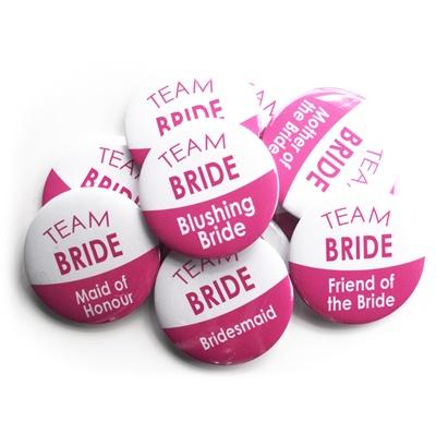 Team Bride Badge Set