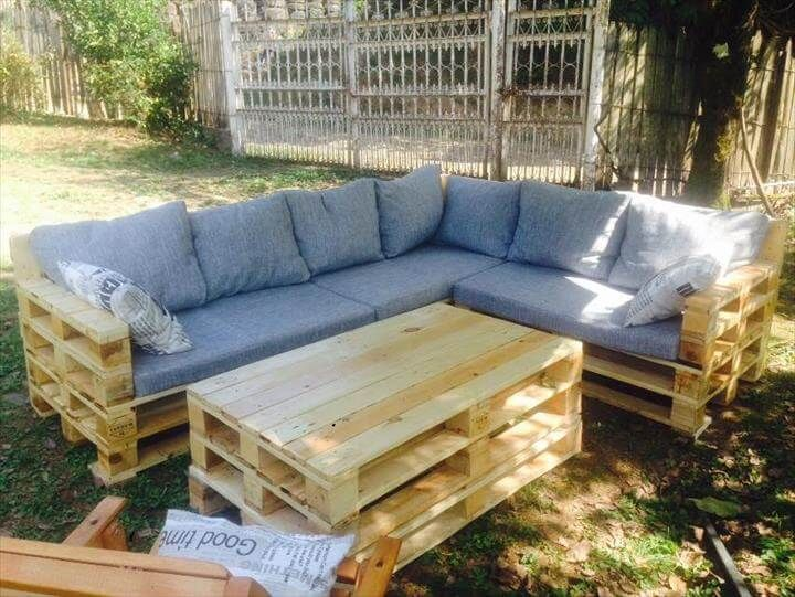 How To Make Pallet Garden Seating