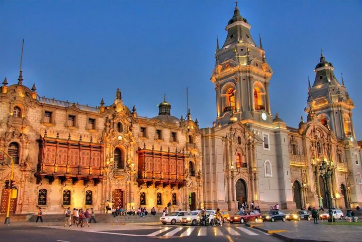 Lima, Peru: Plaza Mayor where Gabriela and Laura have their first secret meeting.