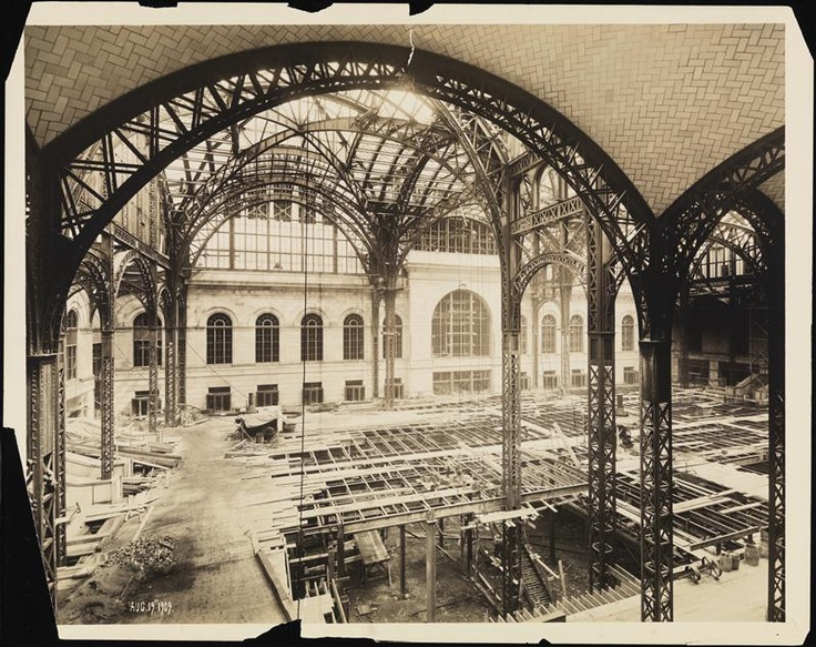 The Original Madison Square Garden Under Construction