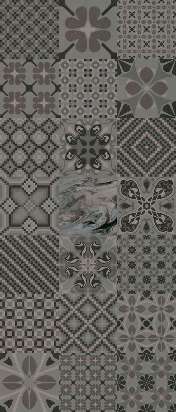 1900: Tassel Grafito   20x20cm. | Bodenfliesen   Rotscherbige  Steinzeugbodenfliesen | VIVES Azulejos Y