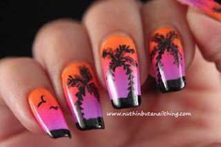 Palm tree nail art - nuthin but a nail thing
