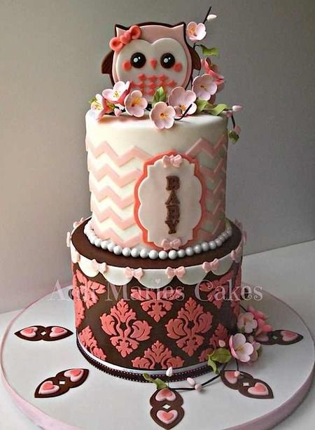 best owl cakes images on   owl cakes, amazing cakes, Baby shower invitation