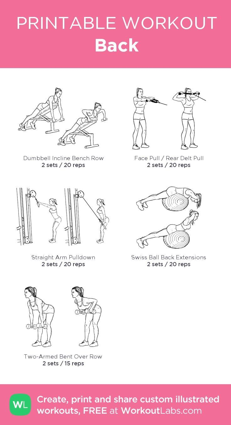 graphic about Printable Gym Workout called Pin through Amanda McAuley Grey upon Back again health Printable