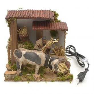 Pastor con vaca movimiento cm 23x18   venta online en HOLYART