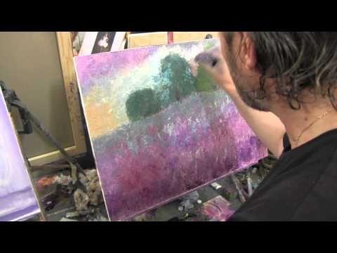Пейзаж для начинающего художника, живопись маслом, Сахаров, уроки маслом - YouTube