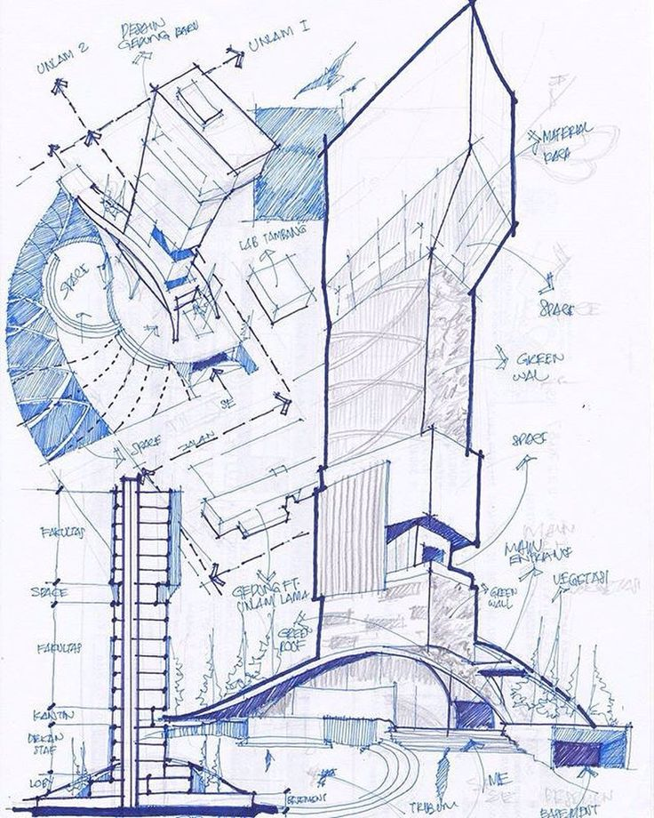 Concept sketch by @hidayates4 #archisketcher by archisketcher