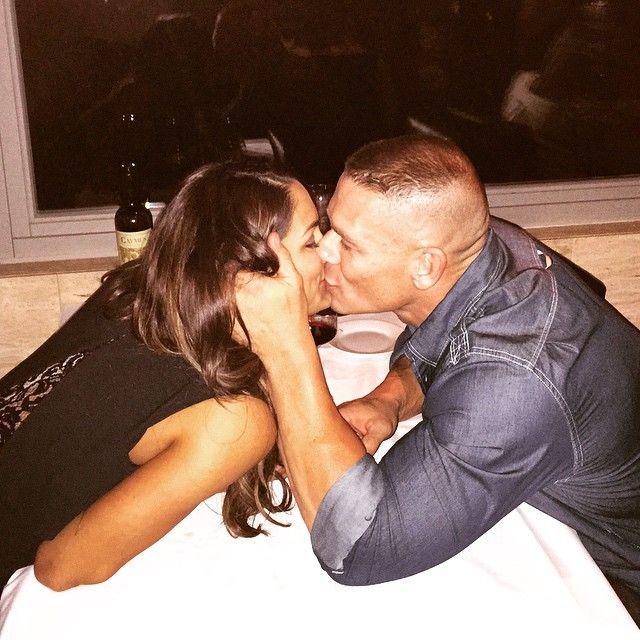 John Cena and his girlfriend Nikki Bella on Valentine's day
