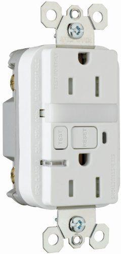 Pass & Seymour 1595NTLTRWCC4 Gfci Receptacle/Nightlight Tamper Resistant 15-Amp/125-volt Pass & Seymour