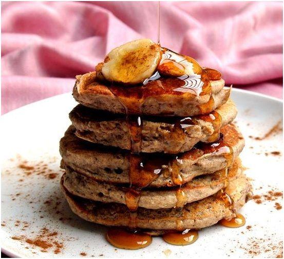 Vegan Banana Buckwheat Pancakes - earthlingcuisine.com