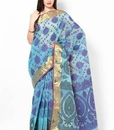 Buy Organza Zari Border Fancy Banarasi Multi Contrast Saree organza-saree online